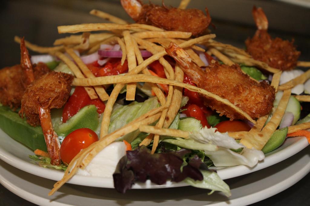 Calypso Salad with Coconut Shrimp