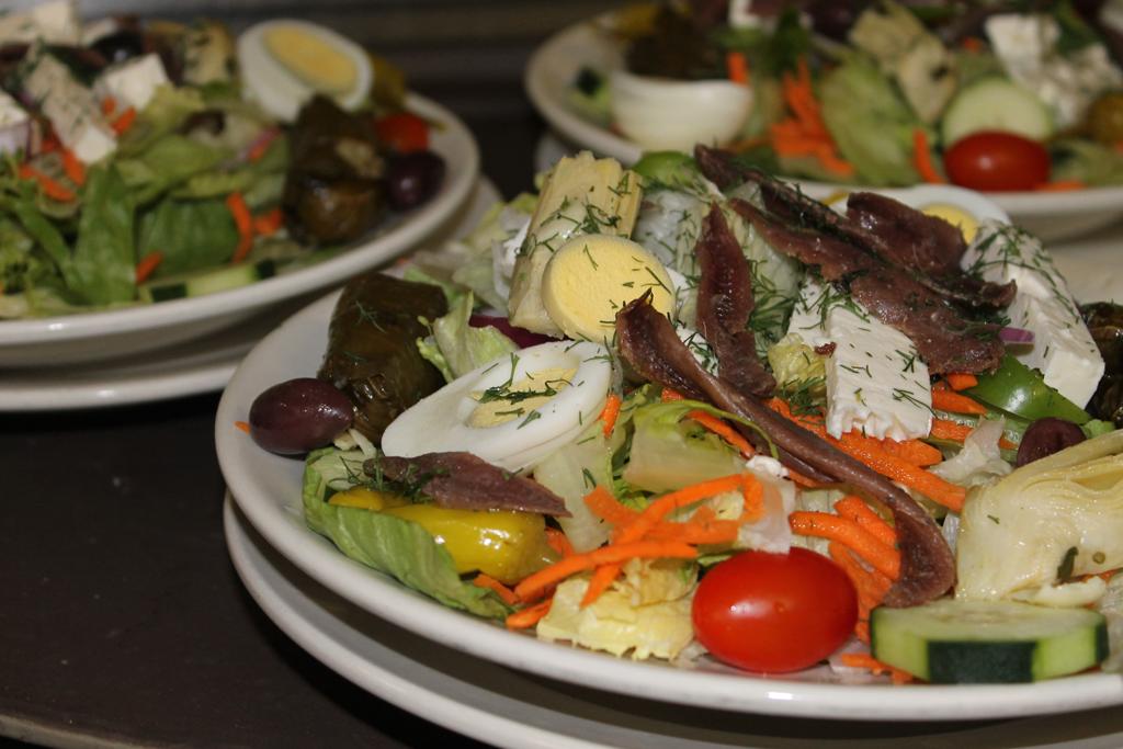 Greek Salad served with Homemade Greek Dressing